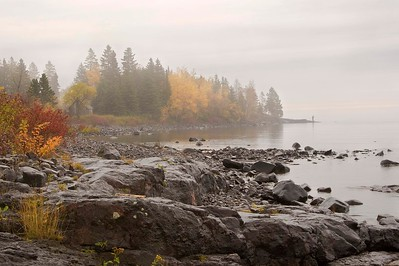 Fisherman at Stoney Point, Lake Superior