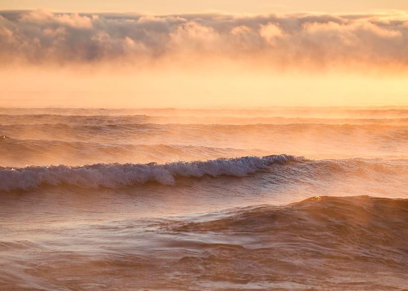 Sunrise on Lake Superior - Winter