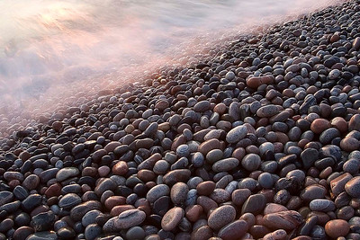 Sunset on the shore of Lake Superior, Marathon, Canada
