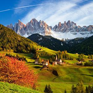 Italia, Trentino Alto Adige, Bolzano, Val di Funes