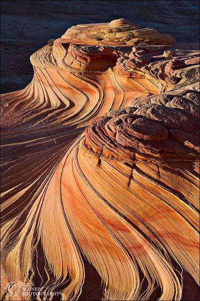 """<font color=""""#FFFFFF"""" size=""""4"""" face=""""Verdana, Arial, Helvetica, sans-serif"""">Second Wave Sunset</font><br> The Wave, Arizona"""