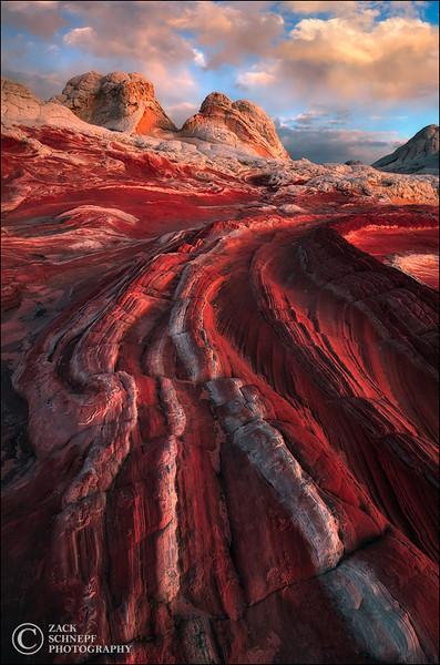 """<font color=""""#FFFFFF"""" size=""""4"""" face=""""Verdana, Arial, Helvetica, sans-serif"""">Planet Crimson</font><br> Vermillion Cliffs, Arizona"""