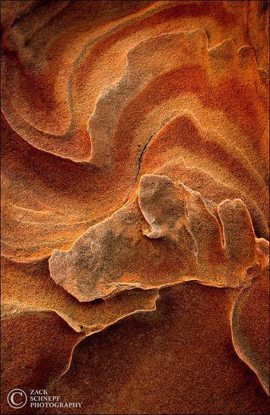 "<font color=""#FFFFFF"" size=""4"" face=""Verdana, Arial, Helvetica, sans-serif"">Sandstone Abstract</font><br> Coyote Buttes South, Arizona"