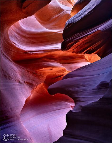 "<font color=""#FFFFFF"" size=""4"" face=""Verdana, Arial, Helvetica, sans-serif"">Reflected Canyon Light</font><br> Antelope Canyon, Arizona"