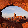 "<font color=""#FFFFFF"" size=""4"" face=""Verdana, Arial, Helvetica, sans-serif"">Hiker in North Window</font><br> Arches NP, Utah"