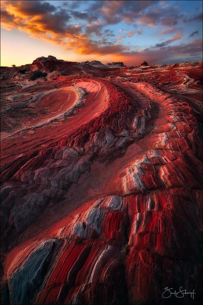 """<font color=""""#FFFFFF"""" size=""""4"""" face=""""Verdana, Arial, Helvetica, sans-serif"""">Red Dragon</font><br> Vermillion Cliffs, Arizona"""