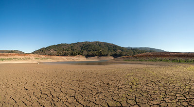 Lexington Reservoir in Los Gatos, California is as low as its been in years due to the severe drought.