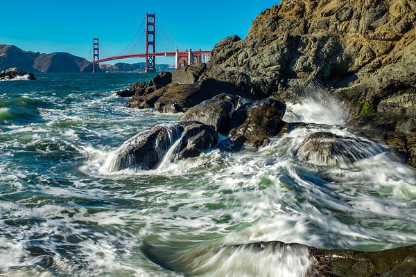 Golden Gate Crashing Waves