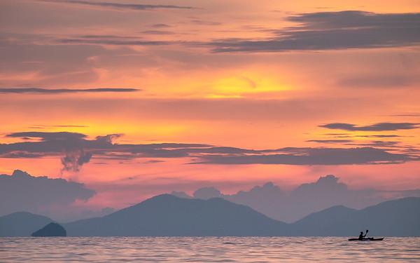 Thailand Kayak Sunset