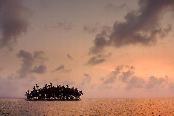 San Blas Island at Sunset
