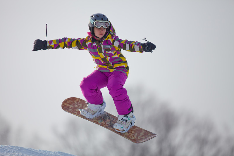 Snowboarder at Otsego Club