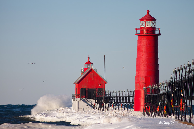 Grand Haven Lighthouse, Lake Michigan