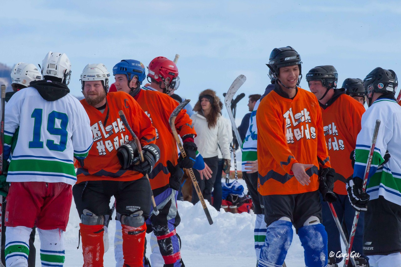 The Handshake - Pond hockey tournament St. Ignace, MI 2013