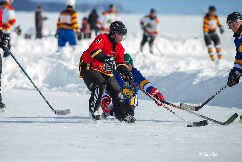 Pond hockey tournament St. Ignace, MI 2013