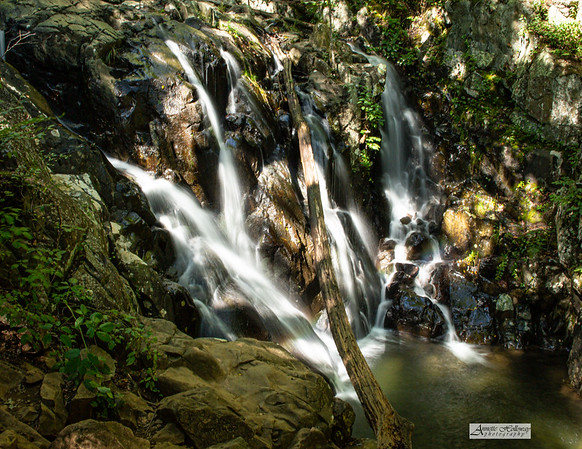Rose River Falls is an impressive 67 ft tall at Shenandoah National Park VA 9-21-20 by Annette Holloway Photography The 3.5 mile Rose River Loop Hike access is at mile marker 49.4 on Skyline Drive.