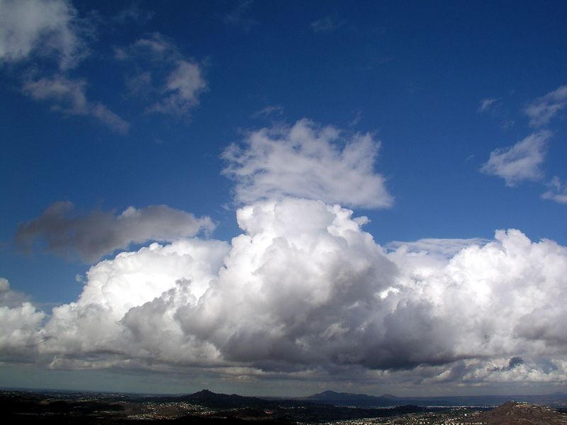 A large storm cloud over San Diego's east county, October 2003