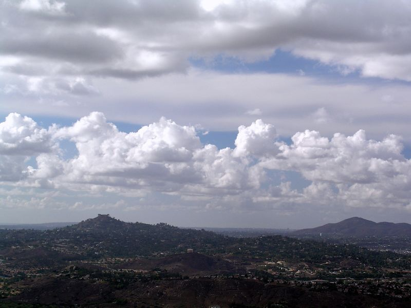 Cloudscape and Mt. Helix
