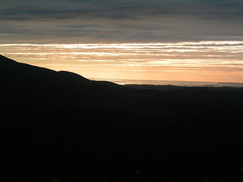 The view to Coronado from east county