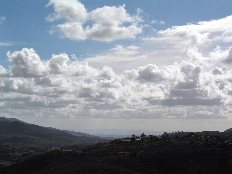 Cloudscape with Tijuana in the distance