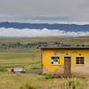 einsames Café im Hochland von Lesotho, Matebele Cafe bei Malealea, Lesotho, [en] mountain landscape, en route to Malealea,