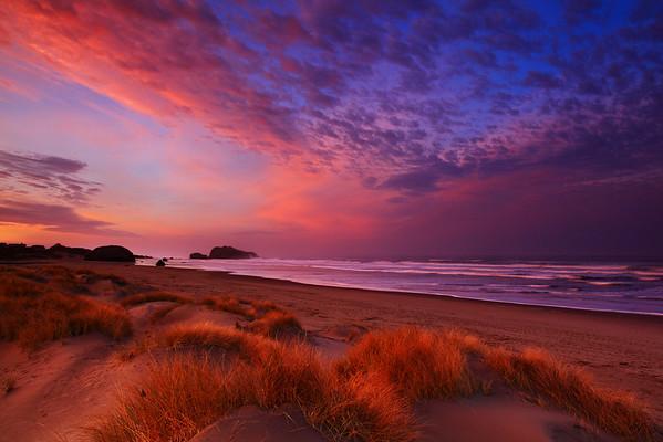 Sunrise From Bandon Beach Along The Oregon Coast in Oregon
