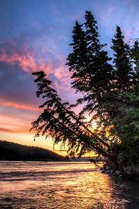 June Sunset in Alaska