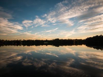 Lake Sunset Reflection