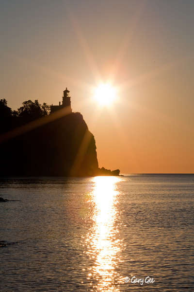 Split Rock Lighthouse, Lake Superior at sunrise