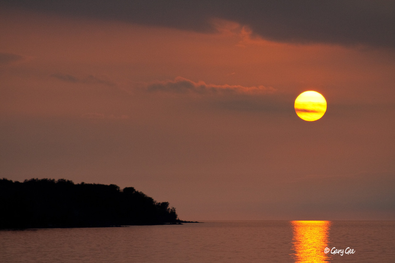Sunset over Lake Superior in the Porcupine Mountains