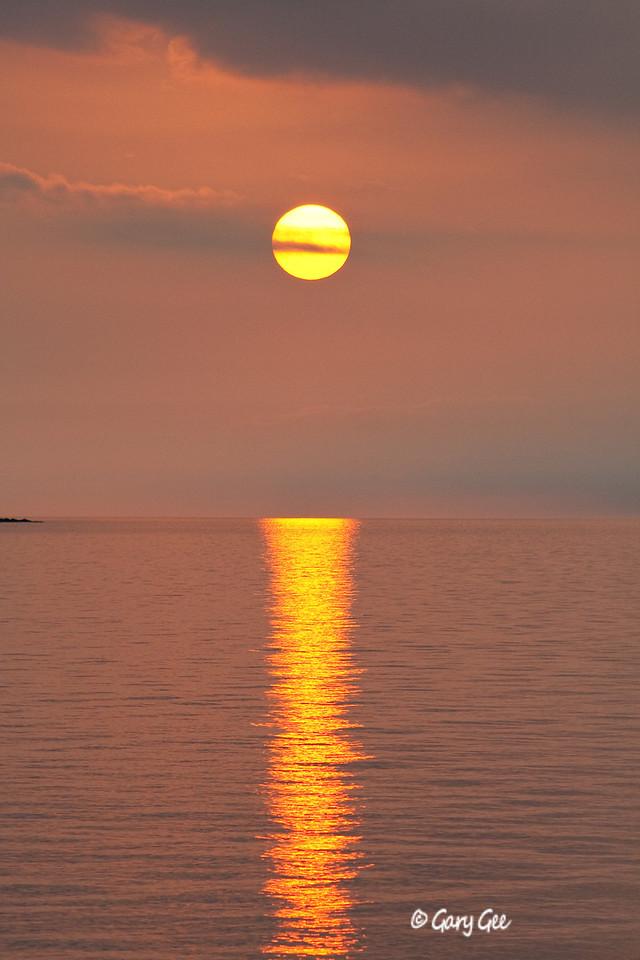 Sunset over Lake Superior, Porcupine Mountains, Michigan