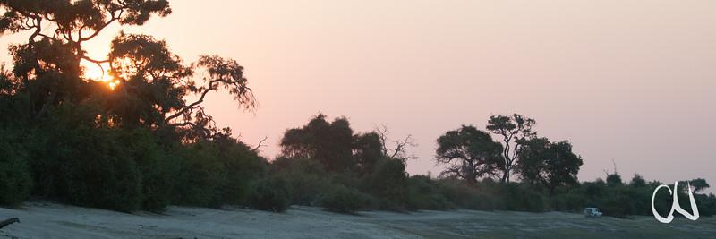 Sonnenuntergang am Chobe-Fluss, Botswana, Chobe National Park, Nationalpark, Okavango Delta, Botswana, Botsuana