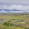 mountain valley, agriculture, maize, mealie, corn, sorghum, field, Lesotho, Landschaft mit Mais und Sorghumfeldern in Lesotho auf dem Weg nach Malealea