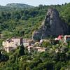 in die Felsen gebautes Bergdorf, Roccalbegna, Toskana,Italien