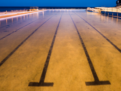 Seaside Pool at Night