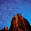 Star Trails over Cathedral Valley