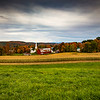 Overlooking a Farm and Church in Peacham, VT