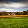 Overlooking a Farm and Church in Peacham, VT