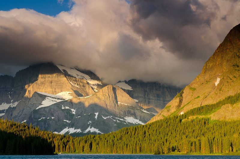 Break in the Clouds<br /> Galcier National Park, Montana