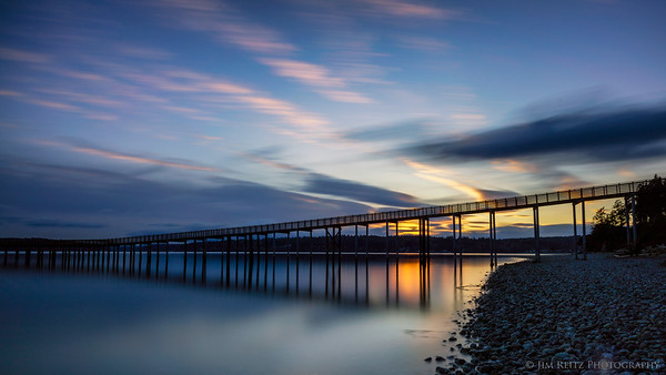 Indianola pier, sunset long-exposure