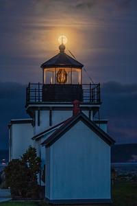 Lighthouse Super Moon.