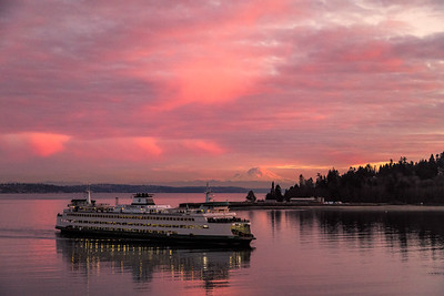 Sunset over Eagle Harbor on Bainbridge Island, WA.