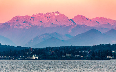Sunrise - Olympic mountains & Bainbridge Island