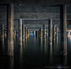What lurks beneath the ferry dock?