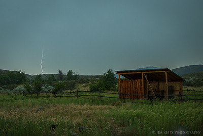 Lightning strike behind our cabin