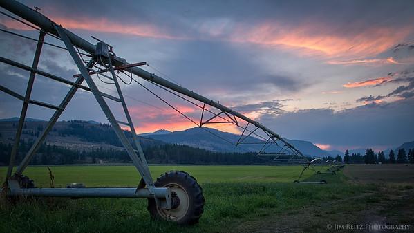 Sunset - near Winthrop, Washington