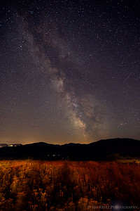 Amazingly clear skies outside of Winthrop allow for a view of the Milky Way. Taken just off our cabin's patio.