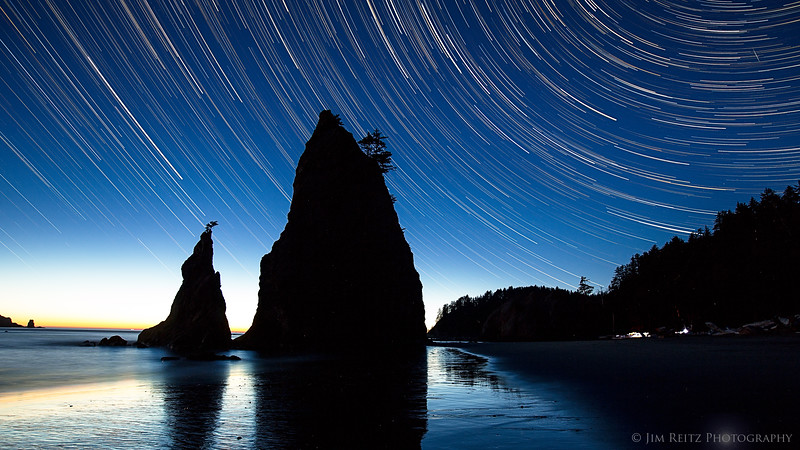 Sea Stacks & Star Trails