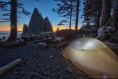 Camping on Rialto Beach