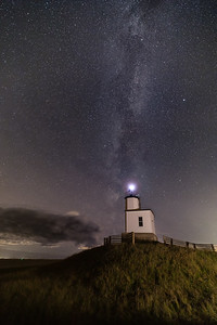 Milky Way over the Cattle Point Light on San Juan Island, Washington