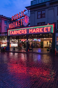Pike Place Market - rainy reflections.